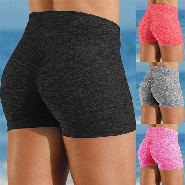High Quality Breathable Women's High Waist Sports Short Workout Running Fitness Leggings Female Shorts Gym Leggings 1