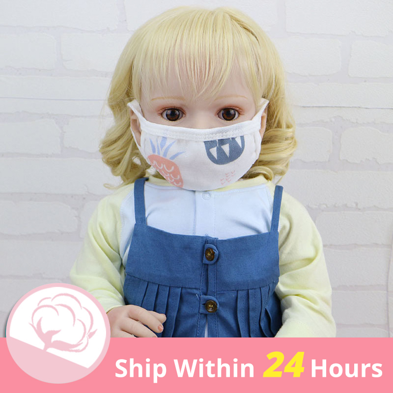 6/8 PCS Breathable Comfortable For Children Layers Gauze Masks Dust-proof Baby Protective Masks Cotton Gauze Masks