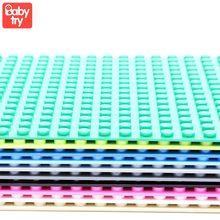 Base plástica para brinquedos de construção, estrutura de base clássica compatível com dimensões da cidade, 32*32 pontos