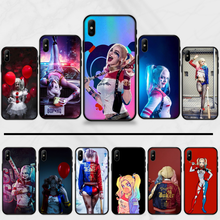 Suicide Squad Harley Quinn Joker Telefon Fall Abdeckung Für iphone 5 5S SE 5C 6 6S 7 8 plus X XS XR 11 PRO MAX(China)