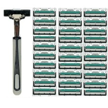 Shaving-Machine Shaver Razor-Blades Hair-Remover Beard 2-Layers Face-Care 1/30pcs Manual