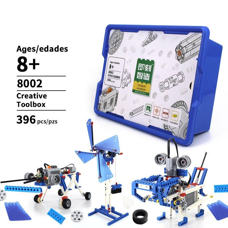 396pcs DIY Robot 3 In 1 Building Block Set Robot Arduino Constructor Robotica Kit Education For Kids 8+