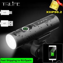 TRLIFE XHP90 światło rowerowe LED ładowane na USB 5200mAh MTB światło przednie 3T6 3L2 reflektorów Ultralight LED latarka rowerowa światła tanie tanio CN (pochodzenie) Kierownica Baterii CCC CE 3T6 3L2 XHP90 5V 1A 360 degree rotation holder 3 Modes 1200mAh 5200mAh 3200mAh 2600mAh