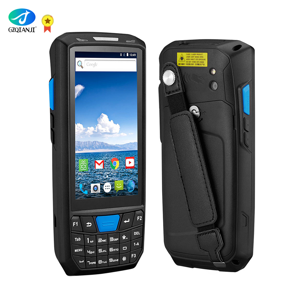 Android 7.0 PDA Rugged Handheld Terminal PDA Data Collector for Warehouse 1D 2D QR Barcode Scanner Support OTG 4G PDA Terminal