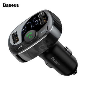 Baseus 3.4A Dual USB Car Charger Kit Handsfree FM Transmitter Aux Modulator Audio MP3 Player Bluetooth Car USB Charger Charging - Category 🛒 Cellphones & Telecommunications