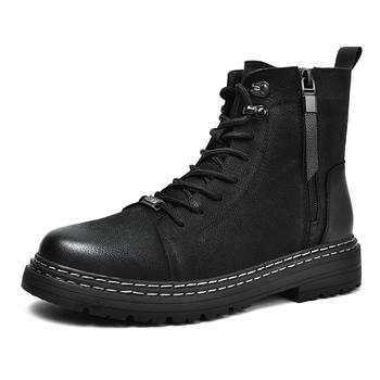 Prawdziwej skóry wygodne męskie buty podstawowe buty męskie buty na świeżym powietrzu mężczyzna buty Casual buty wojskowe męskie buty Chelsea moda buty tanie i dobre opinie YEISNDOO CN (pochodzenie) PRAWDZIWA SKÓRA Skóra bydlęca ANKLE Stałe Dla osób dorosłych Krótki plusz Kożuch okrągły nosek