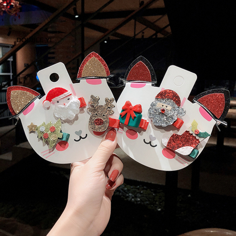 Christmas Series Girls Antlers Dressed Hairpin Clip Festive Christmas Ornaments Christmas Headwear