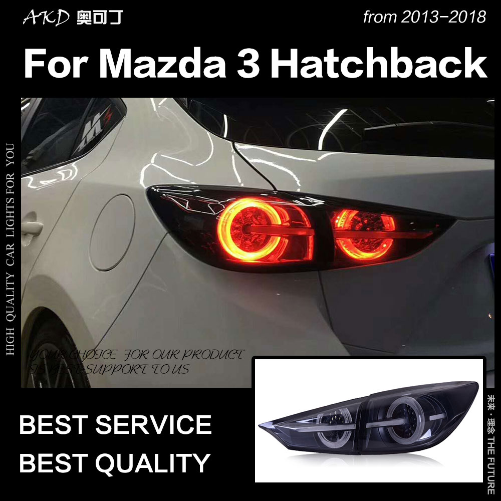 AKD Car Styling For Mazda 3 Tail Lights 2014-2018 Mazda3 Axela Hatchback LED Tail Lamp 5door DRL Dynamic Signal Auto Accessories