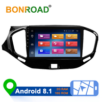 Bonroad 2Din Android 8.1 for Lada VESTA corss accessories 2015 2018 2019 Car Radio Multimedia Video Player Navigation SWC model