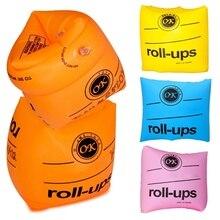 1 par de anillos de banda de brazo de natación flotantes mangas inflables para hombres adultos mujeres niños anillos de natación de seguridad 24*19cm