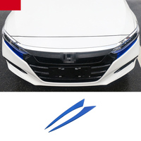 Lsrtw2017 Car Headlight Trims Decoration for Honda Accord 2018 2019 2020 10th Interior Mouldings Accessories