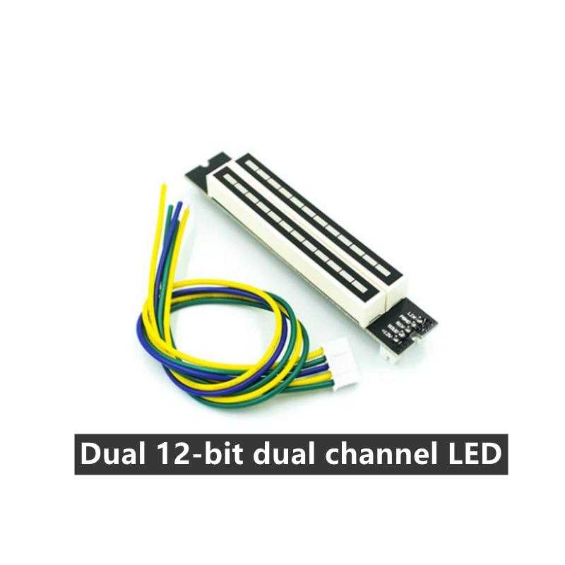 Dual 12-bit dual-channel LED music spectrum level indicator (7 green, 2 orange, 3 red) Audio LED indicator DIY kit