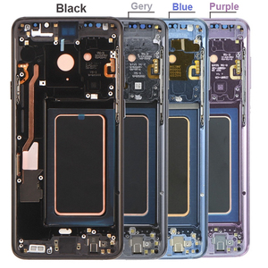 Image 2 - 100% супер AMOLED Замена с рамкой для SAMSUNG Galaxy S9 S9 + ЖК дисплей сенсорный экран дигитайзер G960 G965 s9 plus LCD