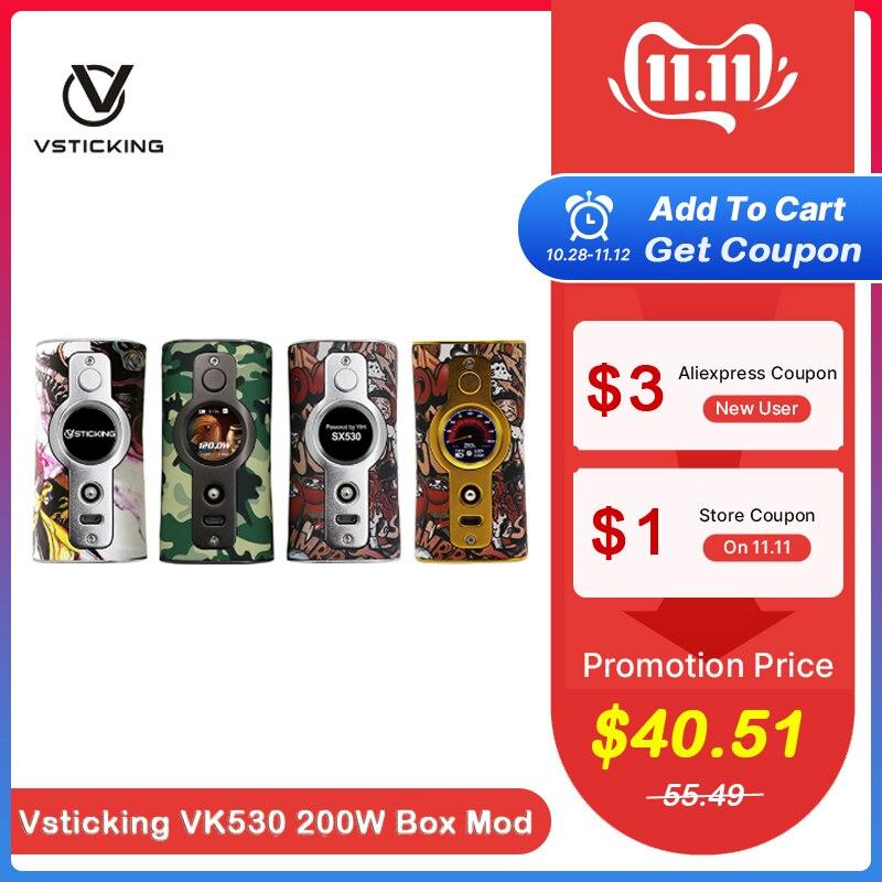 Cigarette électronique vstick VK530 200W boîte Mod YiHi SX530 puce alimenté par double 18650 batterie Vape vaporisateur VS Smoant Charon
