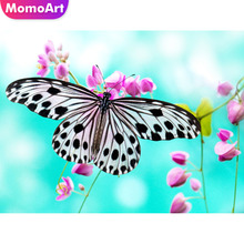 MomoArt Diamond Embroidery Butterfly Painting Full Square Drill Mosaic Picture Of Rhinestone Cross Stitch Landscape