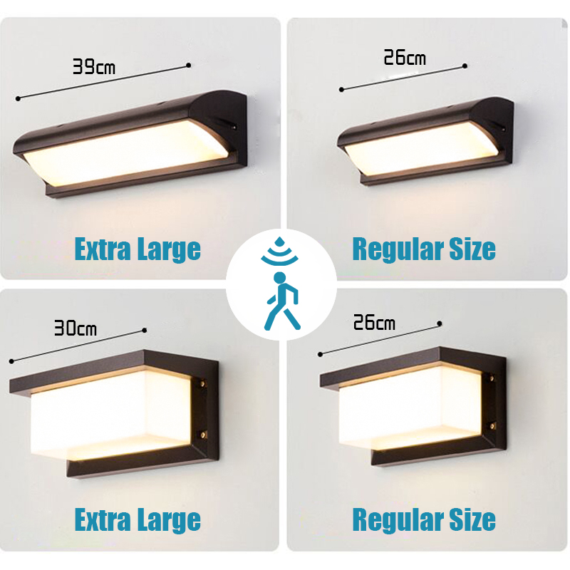 Extra Large LED outdoor wall light waterproof IP65 Radar Motion Sensor led outdoor light outdoor wall lamp outdoor lighting led