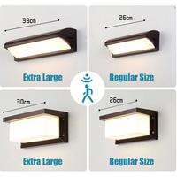 Extra Große LED outdoor wand licht wasserdichte IP65 Radar Motion Sensor led outdoor licht outdoor wand lampe außen beleuchtung led