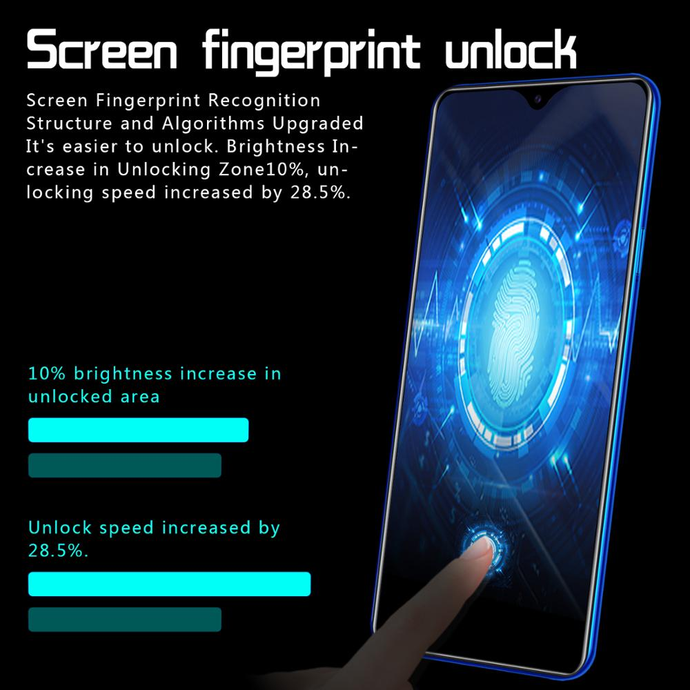 Image 3 - Smartphone M9 Cellphones 6GB+128GB 10 core Android 9.1 Fingerprint Face Unlock Dual Camera 4G Smart Mobile Cell Phone