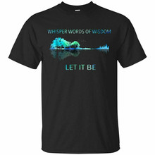 Whisper Words Of Wisdom Let It Be Guitar Lake Shadow Black T-Shirt Size S-5Xl Popular Taglesstee Shirt(China)