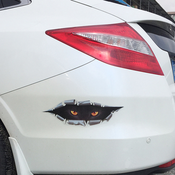 Waterproof Car Sticker Decals Eyes Peeking Monster Motorcycle Decorative Stickers 33*9CM Car Window Decals Car Sticker For image