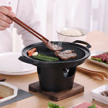 Creative Japanese Style One Person Cooking Oven Home Wooden Frame Alcohol Stove Gift Mini Barbecue Oven Grill Korean Bbq