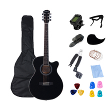 40 inch Guitar Electric Thin Body Guitar Acoustic 6 String Guitar Profession Folk Guitar Pop for Beginner Set Gift AGT26