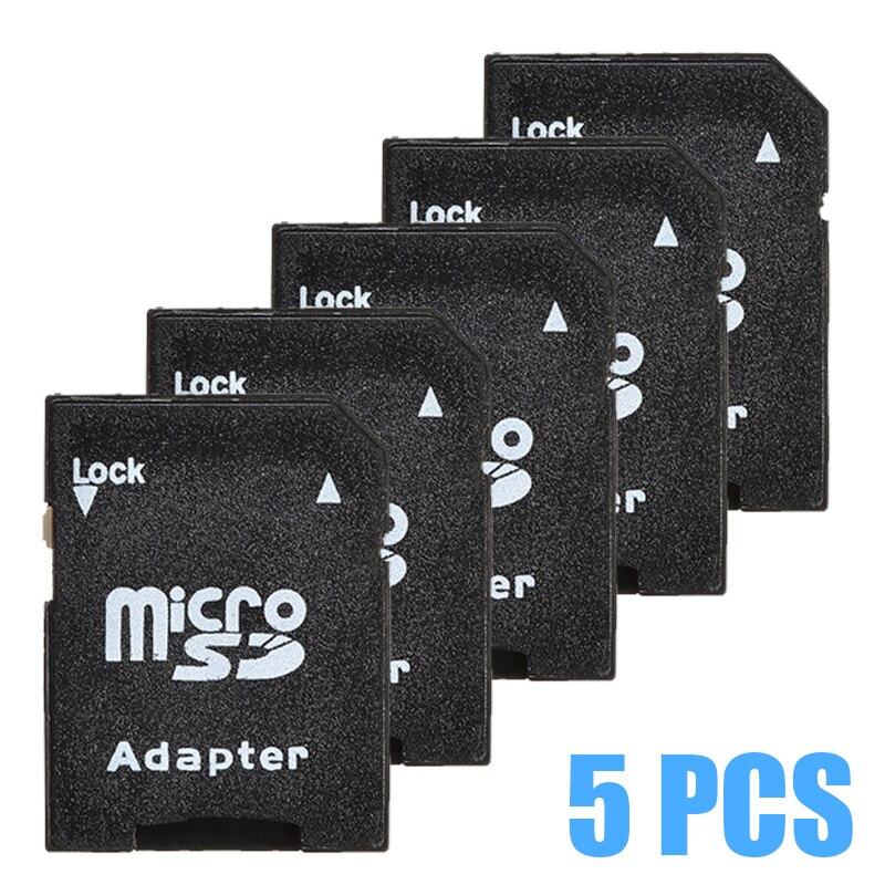 Chegada nova 5 pces tf para micro leitor de cartão sd microsdhc flash adaptador de cartão de memória para smartphones tablet
