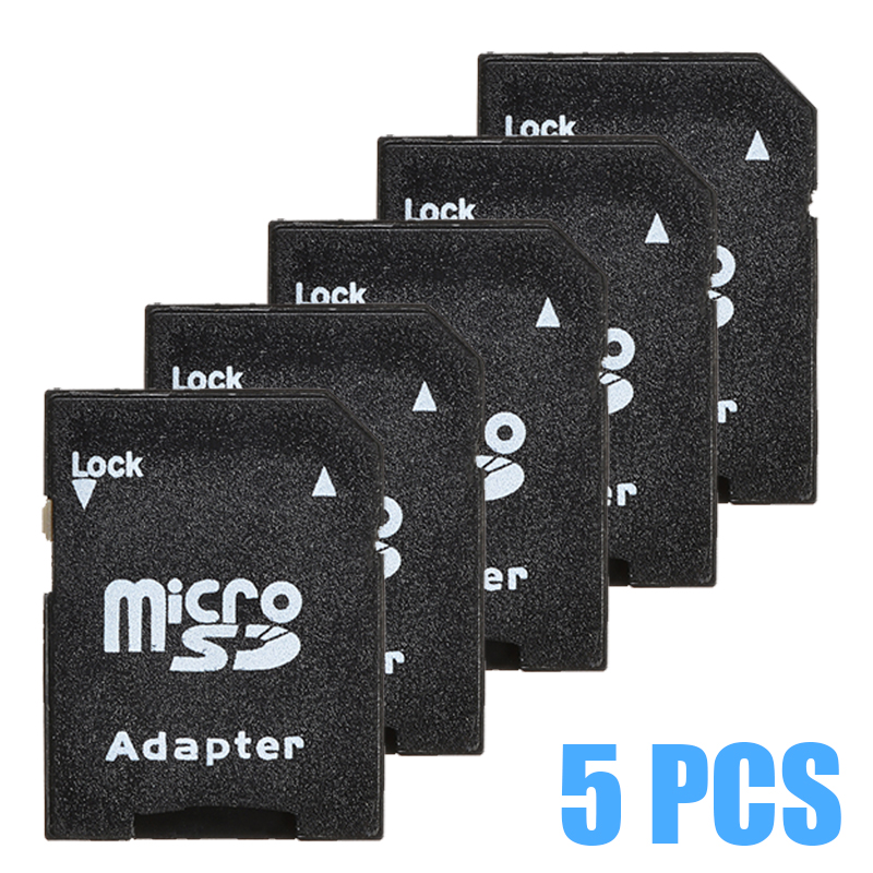 New Arrival 5pcs TF To Micro SD Card Reader MicroSDHC Flash Memory Card Adapter For Smart Phones Tablet