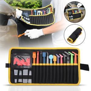 Image 4 - Ehdis Vinyl Wrapping Stok Zuigmond Set Met Magnetische Opbergtas Raam Verven Koolstofvezel Film Plastic Schraper Auto Tool