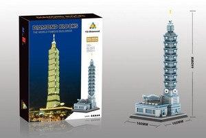 Image 5 - YZ חדש העולם מפורסם ארכיטקטורת בריטניה מגדל 3D Taibei 101 דגם DIY 4692pcs מיני בניין יהלומים בלוקים צעצוע ילדים
