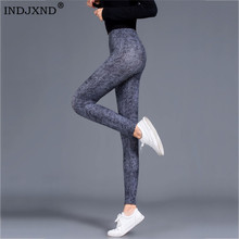 Workout Legging Legins Fitness Women Spandex Sexy High-Waist Plus-Size Casual INDJXND
