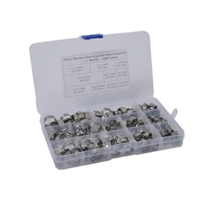 Hose-Clamps Clip Assortment-Kit Stainless-Steel 100PCS Wire-Tube Pipe Fuel-Line Single-Ear
