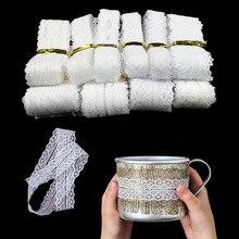 10 ярдов кружевная ткань белая хлопковая кружевная лента для шитья DIY африканская кружевная ткань Вышивка обрезка одежды украшение дома