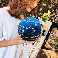 2019 new fashion Korean version of gold velvet personality creative spherical women's bag chain bag