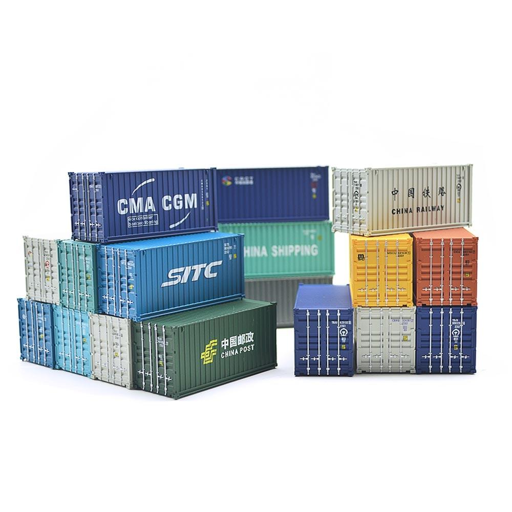 HO 1:87 Scale 20 Foot Plastic Storage Box Container Model Train Accessories For Model Scale Train