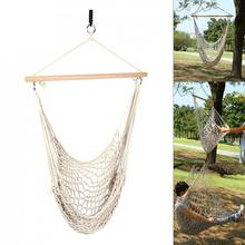 Hammock Chair Outdoor Indoor Garden Hanging Chairs Swing Cotton Rope Net Swing Single Safety Hammock  Kids marine bulwark ladder safety net safety net nylon rope springboard balcony stairs safety net rope 4 6m