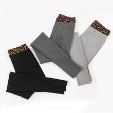 Women Leggins Skinny-Pants Trousers Elastic Sexy Black Leopard High-Waist Casual Fashion