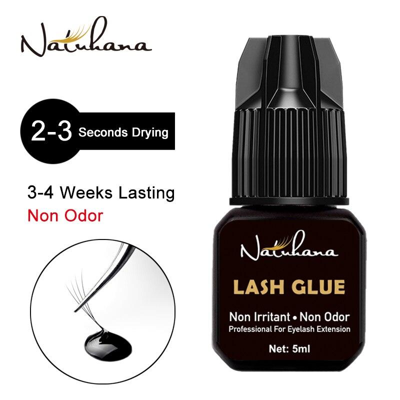 NATUHAHA 5ml Lashes Glue No Smell No Irritant Fast Dry Sticker Connecting Fake Eyelash Extensions Glue False Eyelashes Adhesive