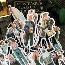 Vintage Travel Girls Stickers DIY Junk Journal Diary Planner Creative Craft Paper Scrapbooking Decorative Sticker