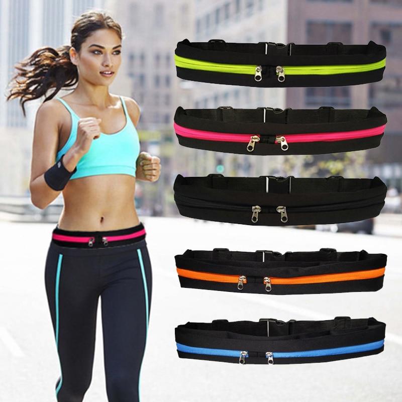 Waterproof Waist Bag Men Women Fashion Sport Running Belt Bag Double Pocket Phone Pouch Bag Adjustable Chest Pack Hip Bum Bags