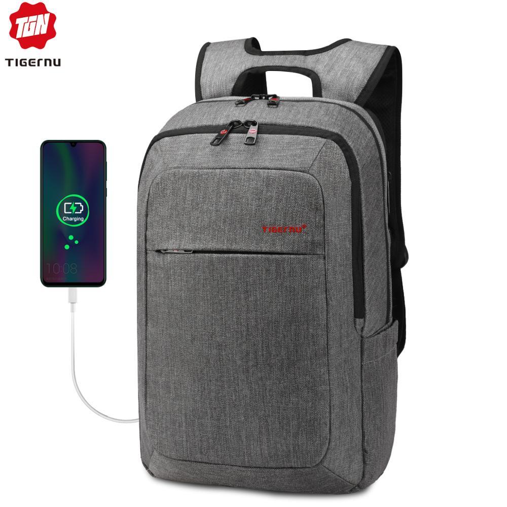 Tigernu Men's Backpacks Anti-thief Male Mochila For Laptop 14-15 Inch Notebook Computer Bags Men Backpack School Rucksack