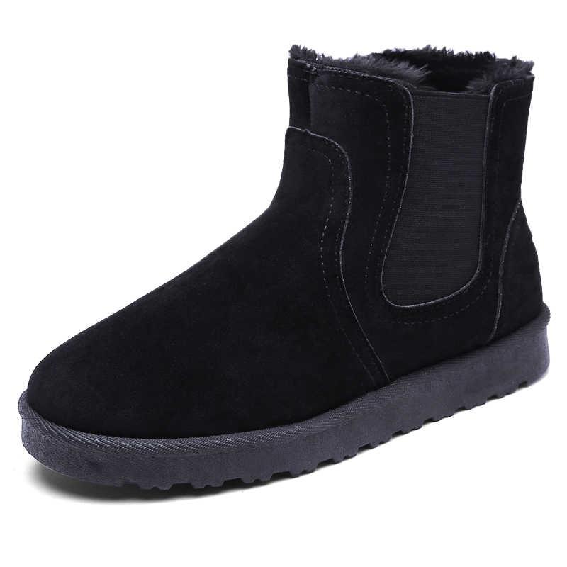 Winter Chelsea Stiefel Männer Luxus Marke Paare Super Warm Schnee Pelz Stiefeletten Für Männer Liebhaber Schuhe Casual Espadrille Bot PUTILER