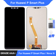 For Huawei P Smart + Plus LCD Display Touch Screen Digitizer Assembly Repair Parts for Huawei Nova 3i Display Frame Replacement 6 21original display for huawei p smart 2019 lcd display screen touch digitizer assembly p smart 2019 display repair parts tool