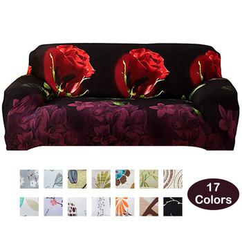 Meijuner 3D narzuta na sofę róża drukowanie elastyczne pokrowce elastyczna All-inclusive narzuta na sofę narzuta na sofę s do salonu Y416 tanie i dobre opinie many size WANYHF416 Rozkładana okładka Gładkie barwione Nowoczesne Floral Sofa przekroju Poliester bawełna