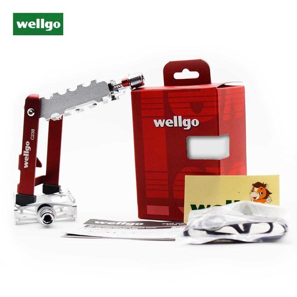 Wellgo A22B Road Scellé Roulement CR-MO Compact Plate-forme Pédales en Noir avec Champ