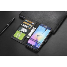 For Samsung S6 Edge Coque 2017 Galaxy Case Luxury Leather Flip  Protective Wallet Phone Cover G