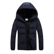 Mens New Hat Cotton Jacket Trend Thicker Casual Down Suit Parkas