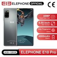 Pre Sale E10 Pro Mobile Phones 4GB 128GB 48MP Quad Rear Cameras Octa Core 6.55 inch Screen 4000mAh Android 10.0 Smartphone NFC