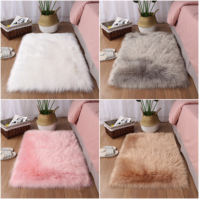 Sholisa Faux Fur Area Rug Fluffy Carpet Belt Shape 6cm Pile Fluffy Carpet For  Living Room Bedroom Sea Set Home Deco