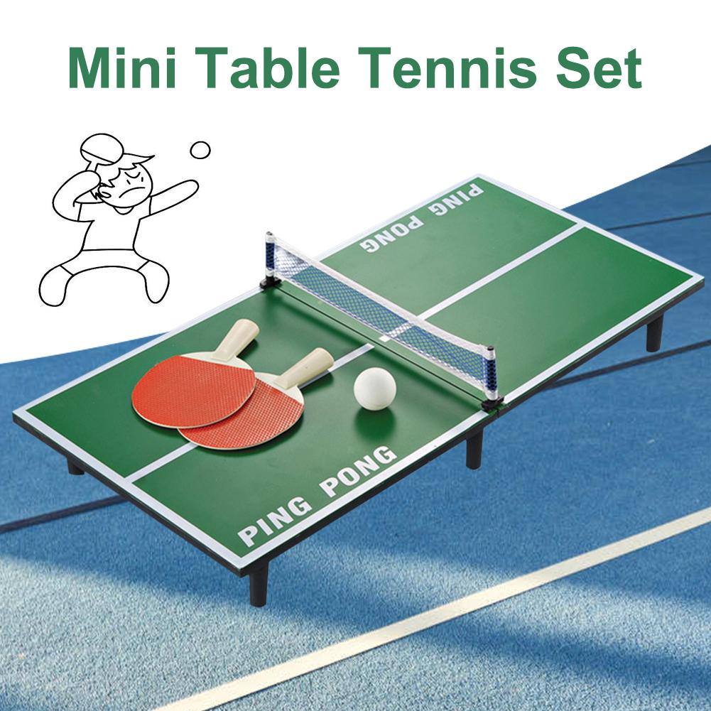 Mini Ping Pong Table Tennis Table Set Wooden Children's Educational Toys Children's Table Tennis Table